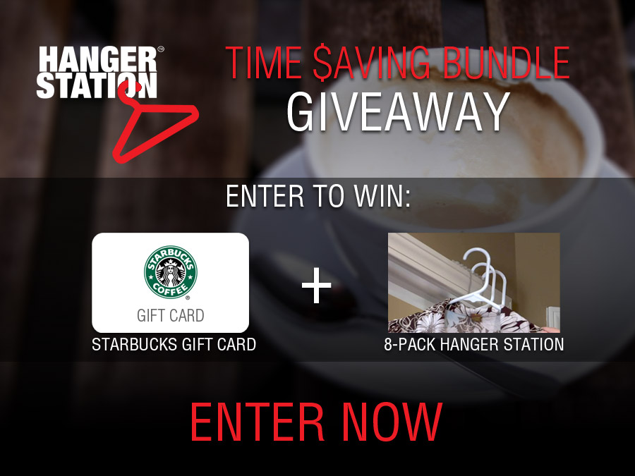 Time Saving Bundle - HangerStation Starbucks Gift Card Giveaway | OnceAMomAlwaysAMom.com