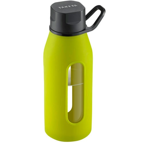 Takeya Green Glass Water Bottle Review by OnceAMomAlwaysAMom.com