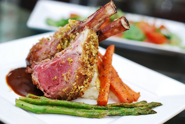12 Festive Easter Recipes: Pistachio-Crusted Rack of Lamb | OnceAMomAlwaysAMom.com