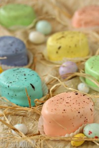 12 Festive Easter Recipes: Raspberry-Tangerine Petit Fours | OnceAMomAlwaysAMom.com