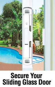 family security - double bolt sliding door lock -