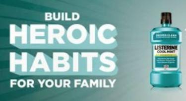 listerine heroic habits with OnceAMomAlwaysAMom.com